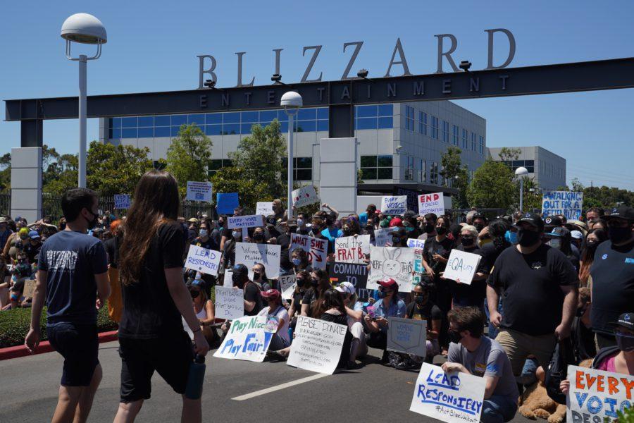 A sede da Blizzard, na California, foi palco de diversas manifestações contra a cultura machista dentro da empresa nos últimos meses.